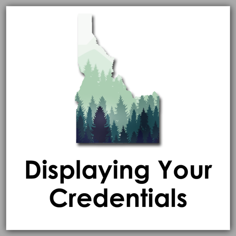 Displaying Your Credentials