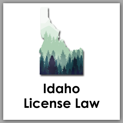 Idaho License Law